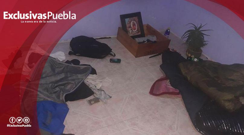Fiscalía decomisa droga y narcomanta en Almecatla