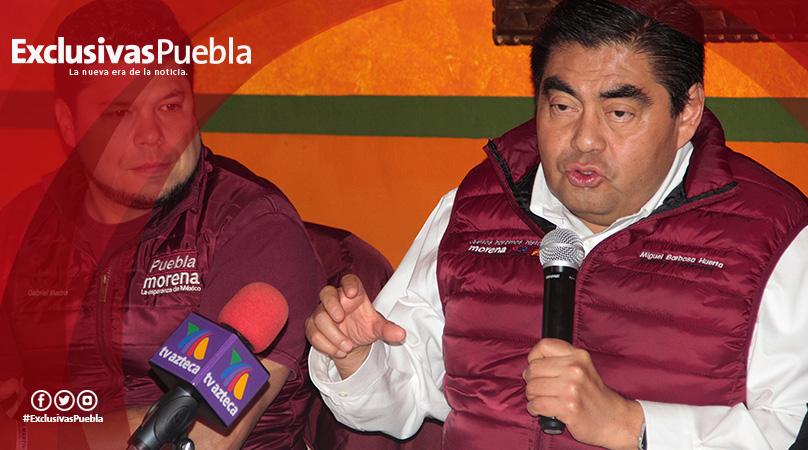 Moreno Valle ha tratado de asediarme, reveló Luis Miguel Barbosa
