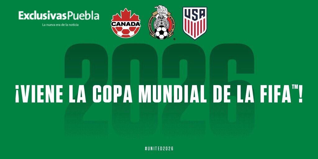México, Estados Unidos y Canadá sedes del Mundial United 2026