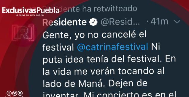 Residente le hace el feo a Maná y cancela Catrina