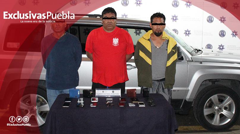 Detiene Policía Municipal a tres presuntos ladrones de comensales en Lomas del Sur