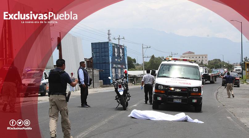 Muere arrollado policía de Texmelucan que acudía a un llamado de emergencia