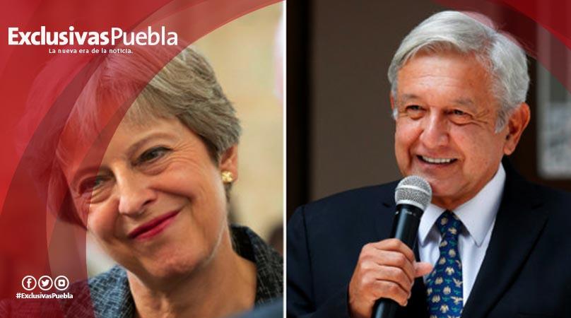 AMLO recibe felicitación de Theresa May, primera ministra de Reino Unido