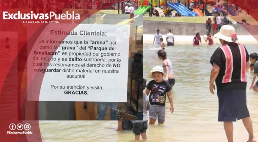 ¡Hasta la arena se llevan en Playa de Amalucan!